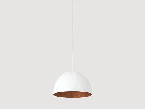 Závěsná lampa LEONARD M - měď-bílá