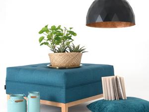 Závěsná lampa LEONARD L - měď-černá small 1