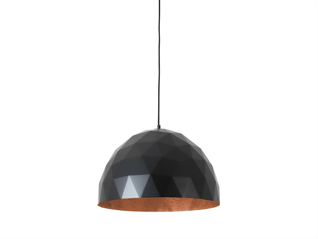 Závěsná lampa LEONARD L - měď-černá