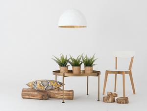 Závěsná lampa LEONARD L - zlatá a bílá small 2