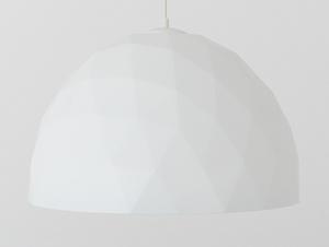 Závěsná lampa LEONARD L - zlatá a bílá small 3