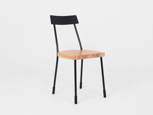 Židle LENA - černá, přírodní