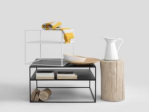 Konferenční stolek TENSIO 2 FLOOR METAL 80 small 2