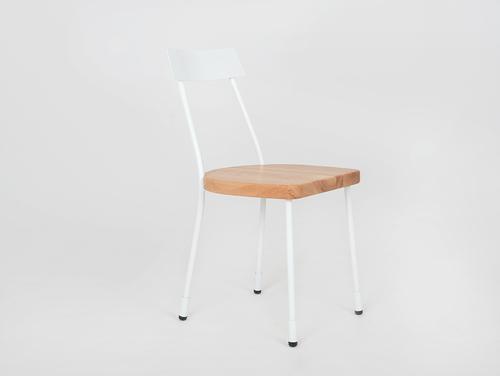 Židle LENA - bílá, přírodní
