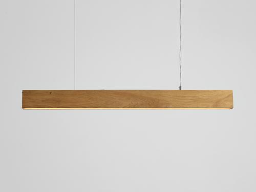 Lampa wisząca LINE PLUS L WOOD - dąb