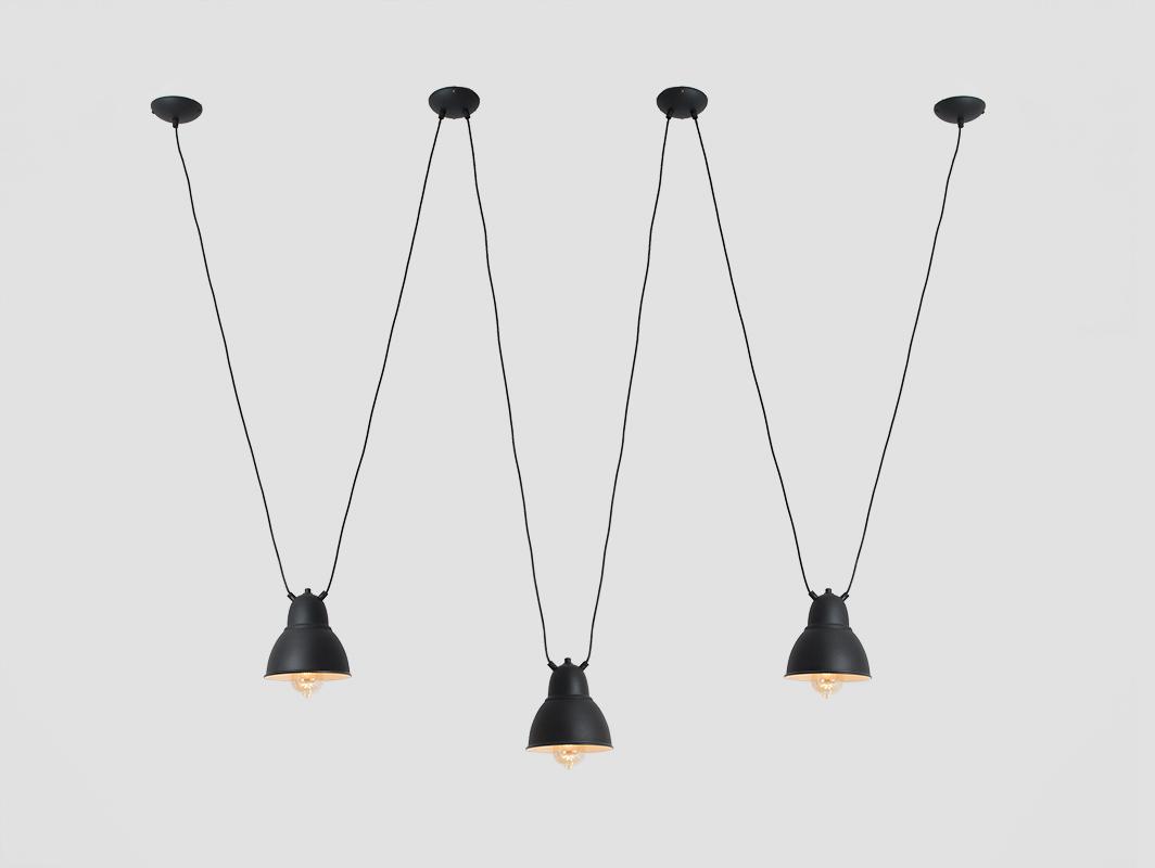 Závěsná lampa COBEN HANGMAN 3 - černá