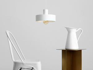 Závěsná lampa FAY 1 M - bílá small 1