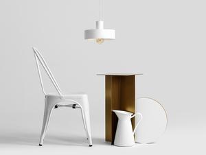 Závěsná lampa FAY 1 M - bílá small 2