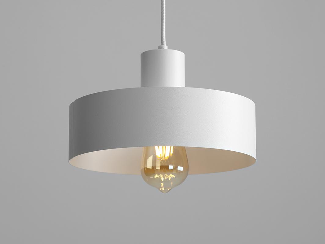 Závěsná lampa FAY 1 M - bílá