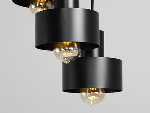 Závěsná lampa FAY 3 KOŁO - černá small 4