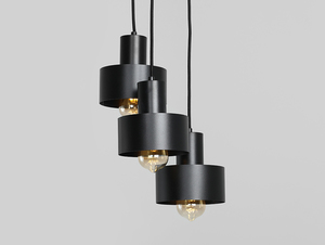 Závěsná lampa FAY 3 KOŁO - černá small 0