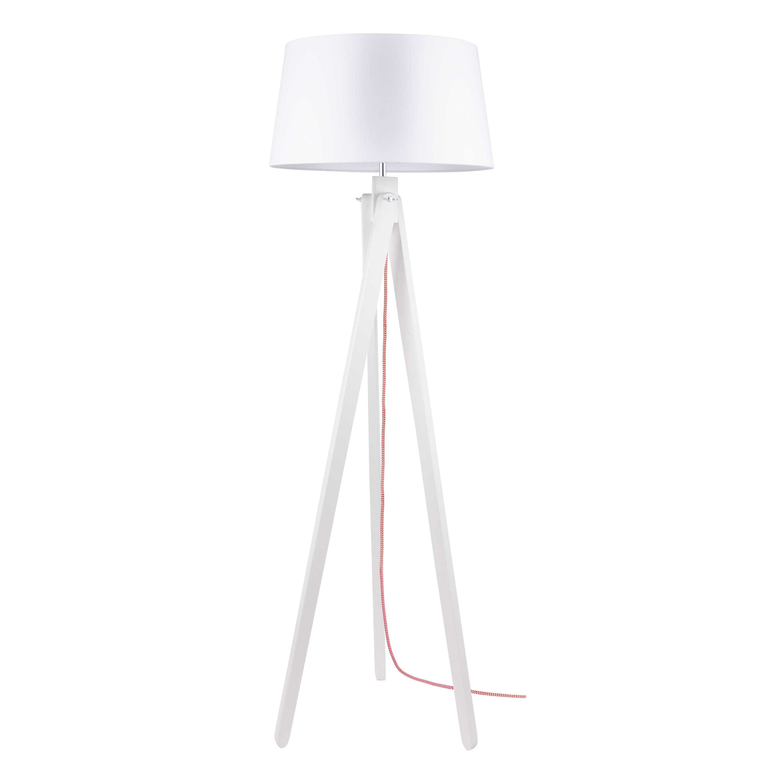 Stojací lampa Rune bílá / červeno-bílá / bílá E27 60W
