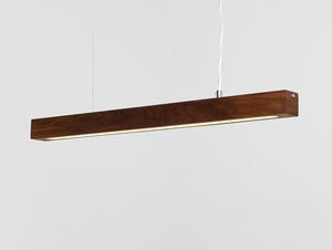 Závěsná lampa LINE PLUS M WOOD LOW - ořech small 3