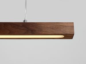 Závěsná lampa LINE PLUS M WOOD LOW - ořech small 4