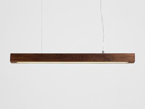 Závěsná lampa LINE PLUS M WOOD LOW - ořech