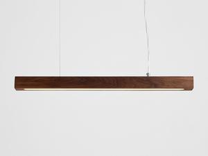 Závěsná lampa LINE PLUS M WOOD LOW - ořech small 0