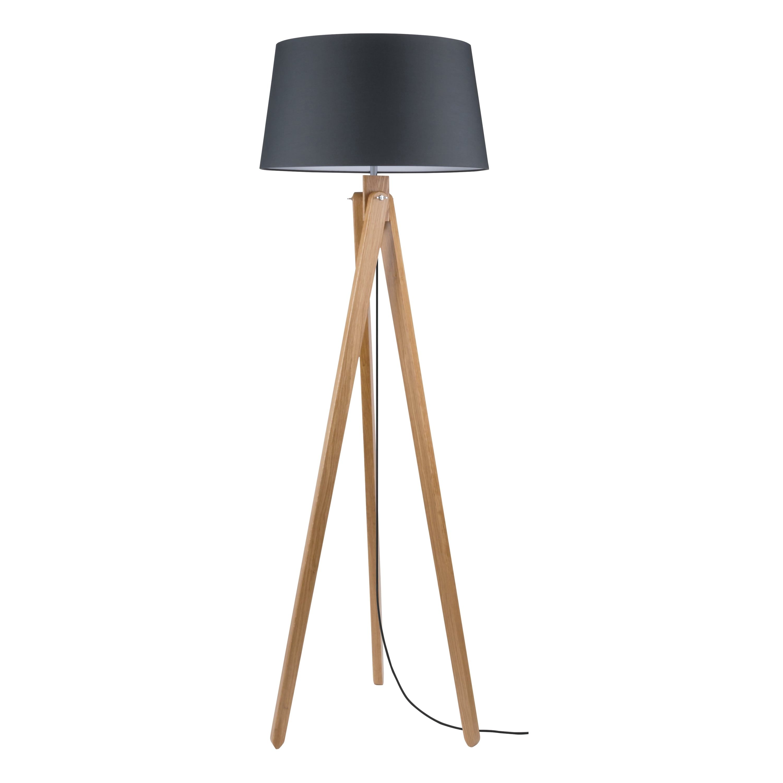 Stojací lampa Rune dąb / antracit / antracit E27 60W