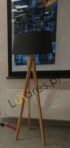 Stojací lampa Rune Buk / czerwony / antracit E27 60W small 1