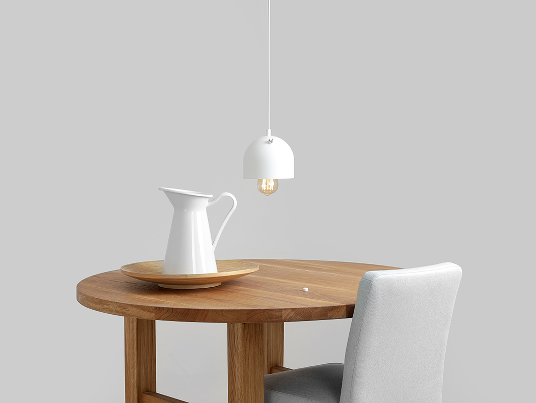 Závěsná lampa POPO 1 - bílá