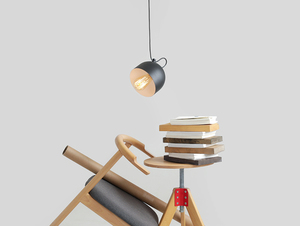 Závěsná lampa POPO 1 - černá small 1