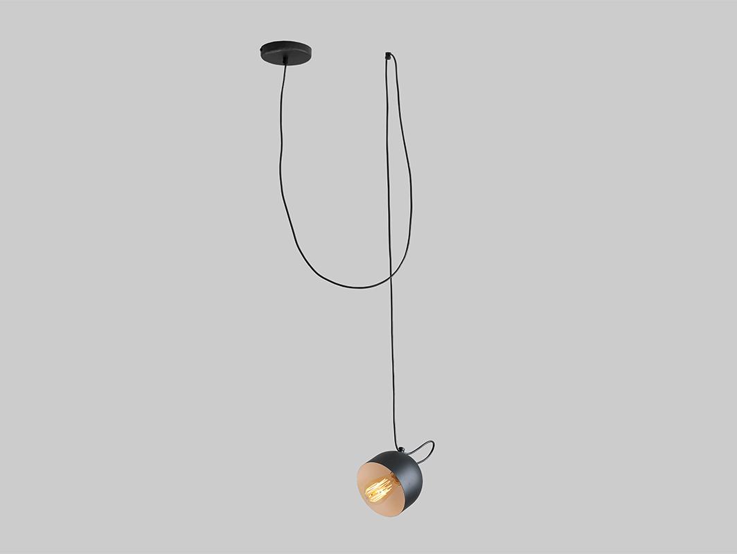 Závěsná lampa POPO 1 - černá