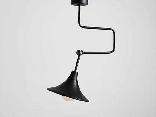 Závěsná lampa MILLER - černá