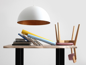 Závěsná lampa LORD 70 - měď-bílá small 1