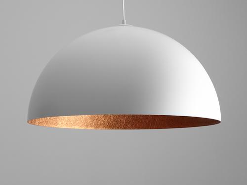 Závěsná lampa LORD 70 - měď-bílá