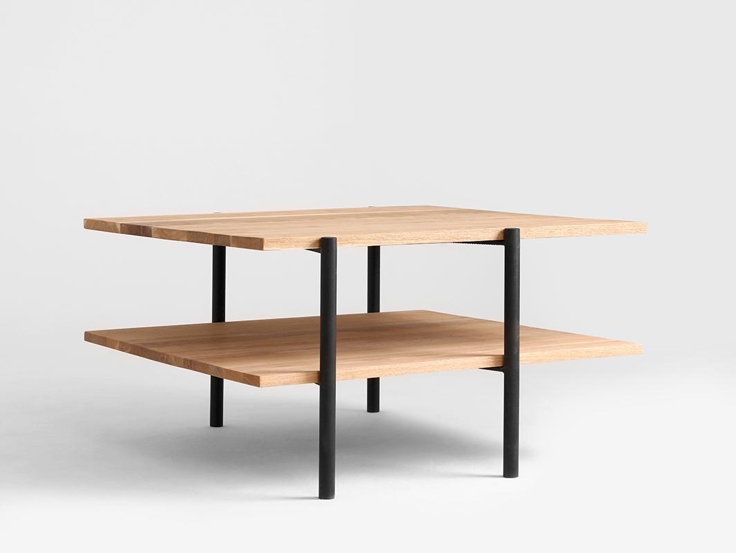 RAVE SOLID WOOD 100x100 konferenční stolek