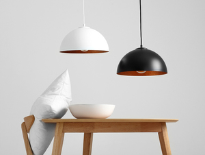 Závěsná lampa LORD 35 - měď-bílá small 1