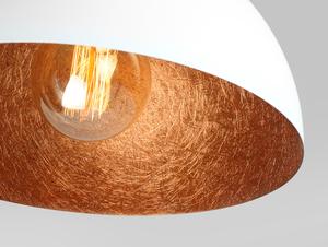 Závěsná lampa LORD 35 - měď-bílá small 4