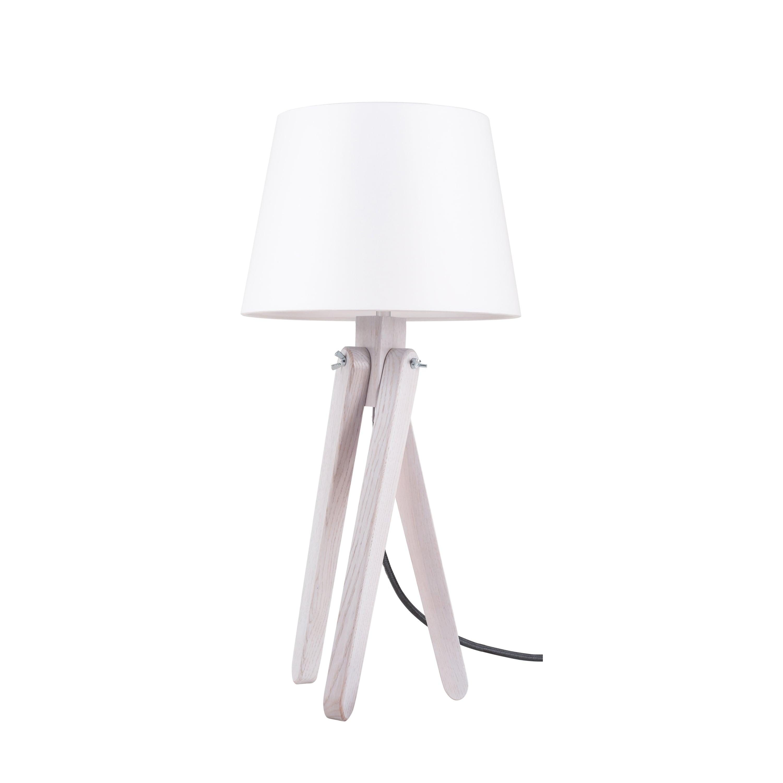 Stolní lampa Rune dąb bielony / antracitová / bílá E27 60W