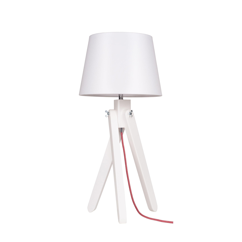 Stolní lampa Rune bílá / červeno-bílá / bílá E27 60W