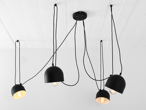 Závěsná lampa POPO 4 - černá