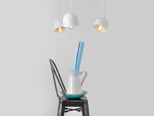 Závěsná lampa POPO 4 - bílá small 1