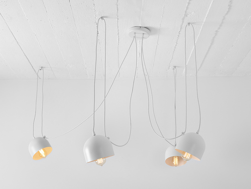 Závěsná lampa POPO 4 - bílá