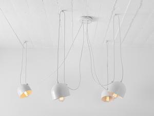 Závěsná lampa POPO 4 - bílá small 0