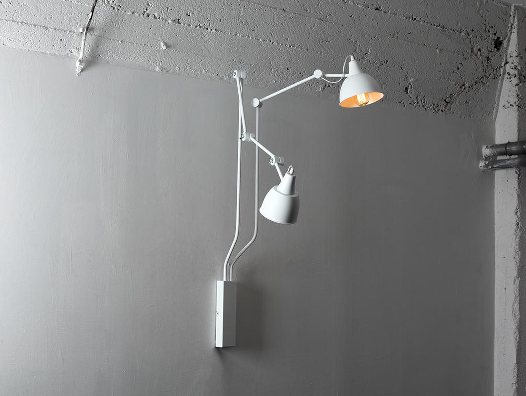 COBEN WALL 2 nástěnná lampa - bílá