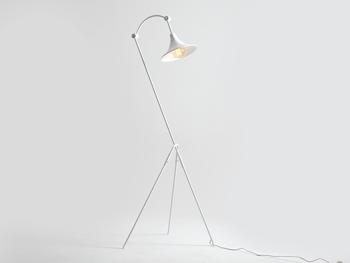 Stojací lampa MILLER FLOOR - bílá