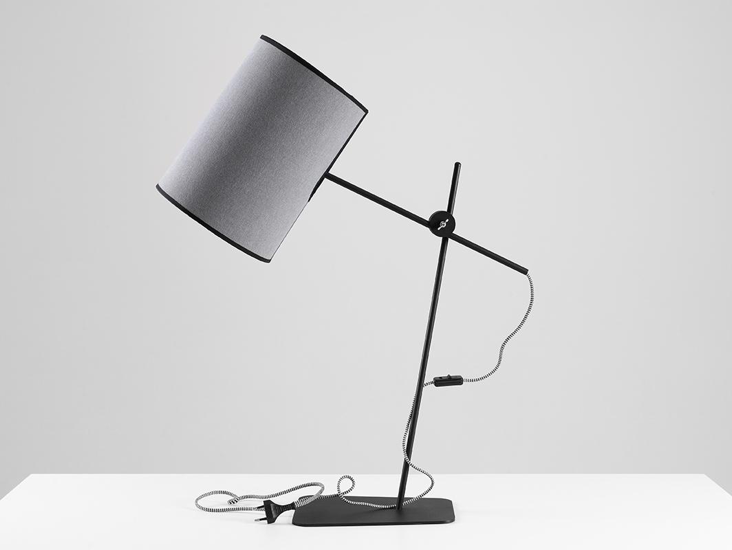 Stolní lampa HOBBIT TABLE I - šedá