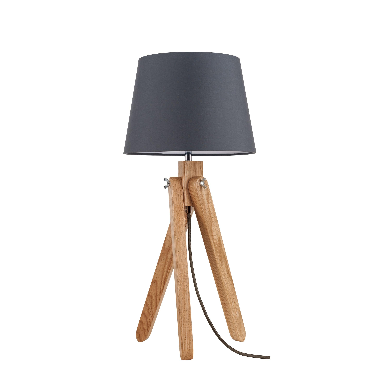Stolní lampa Rune dąb / antracit / antracit E27 60W