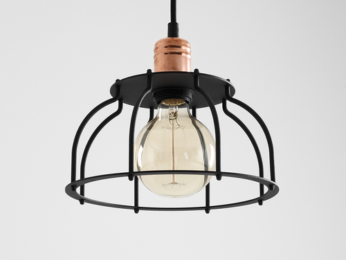 Závěsná lampa WORKER FAT - černá