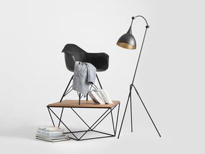 DEBY FLOOR stojací lampa - černá small 2