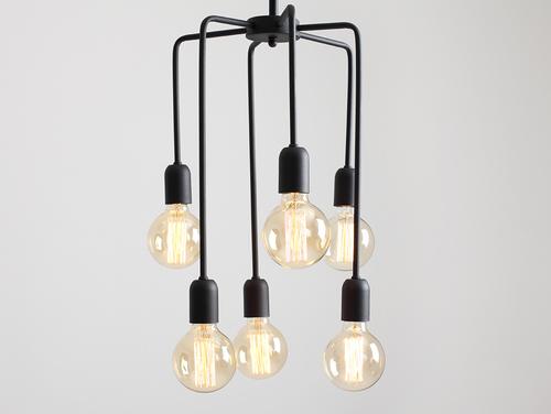 Závěsná lampa VANWERK TALL - černá