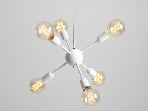 Závěsná lampa VANWERK BALL - bílá