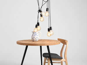 Závěsná lampa SPINNE 7 - černá small 1
