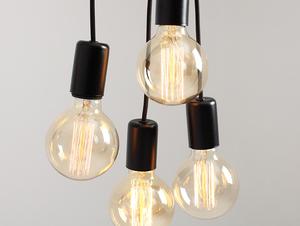 Závěsná lampa SPINNE 7 - černá small 4