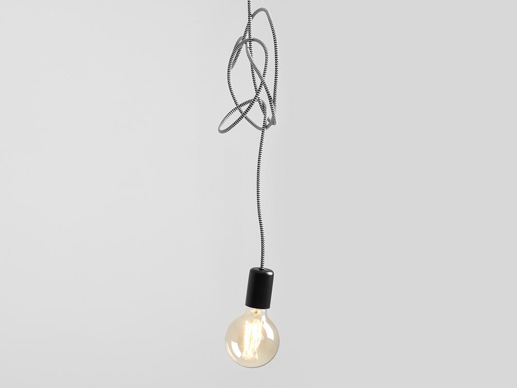 Závěsná lampa SPINNE 1 - šedá