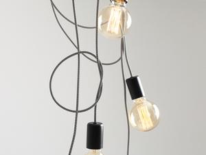 Závěsná lampa SPINNE 7 - šedá small 4