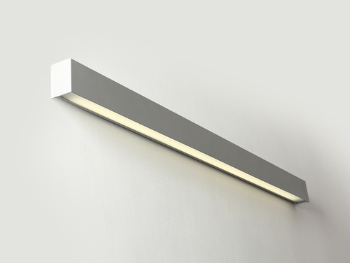 LINE WALL LED L nástěnná lampa - stříbrná